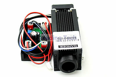 808nm 500mw Dot Ir Diode Laser Module 12v 0.5w Focusable With Driver Out New