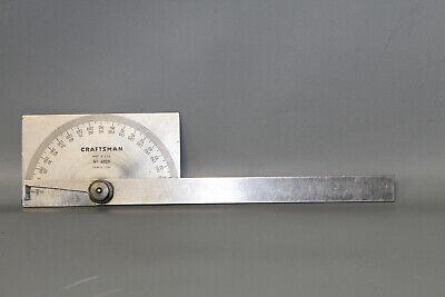 Vintage Craftsman Usa No. 4029 0-180 Degree Square Head Protractor