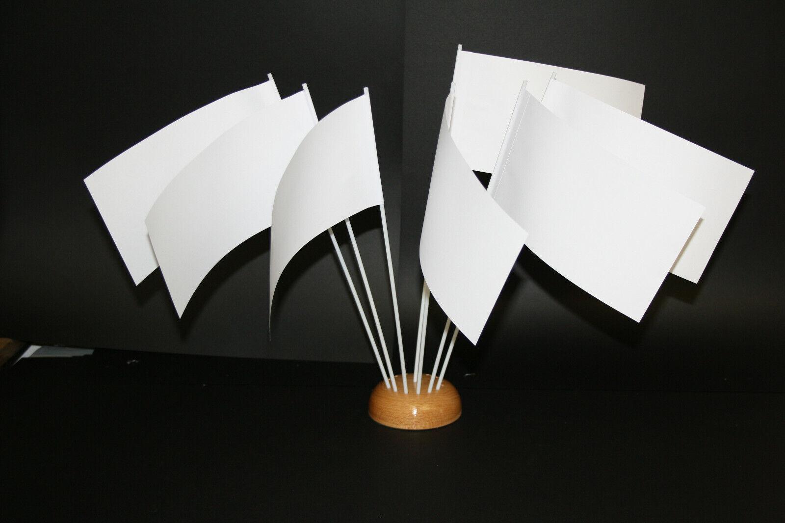 Papierfähnchen/Papierfahnen weiß - zum Selbstgestalten geeignet