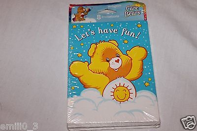Care Bear Party Supplies (NEW  CARE BEARS CLASSIC 8 INVITATIONS PARTY SUPPLIES  )