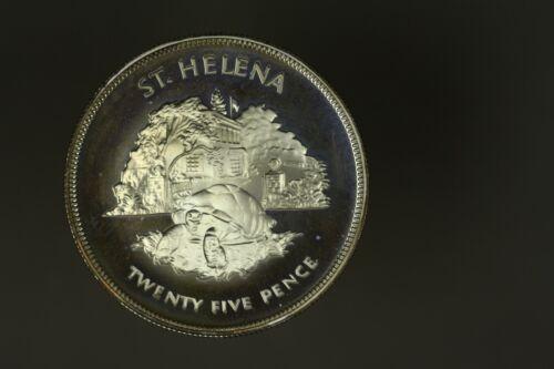 St Helena Silver 25 Pence  1977 - Silver Jubilee   PROOF   A1497