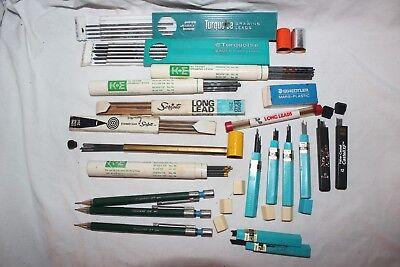 Vintage Lot Of Mechanical Pencil Lead - K-e Pentel Eagle Scripto