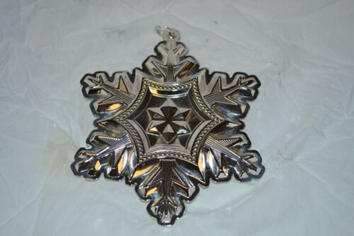 Gorham SNOWFLAKE ORNAMENT from 2014 Sterling Silver Snowflake Made in USA