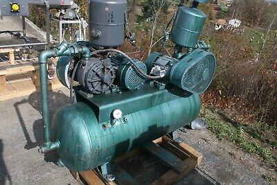 Dual Motor 3 Hp Vacuum Compressor Horizontal Air Receiver Tank 230460v 60hz