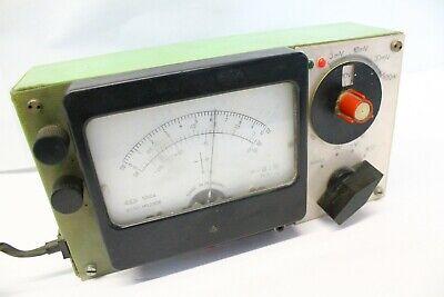 Vintage Analog Desktop Volt Ohm Multimeter Made In Hungary