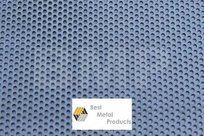 304 Stainess Steel Perforated Sheet .040 X 12 X 24 - 18 Holes 0600102