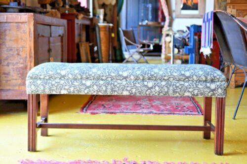Chippendale Custom Upholstered Bench