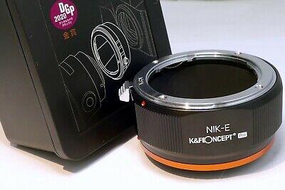 K&F Concept Nikon Ai-S Lente Adaptador A Sony NEX E Montaje Cámara...