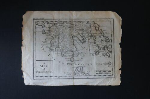18th Century Map of the Peloponnesus