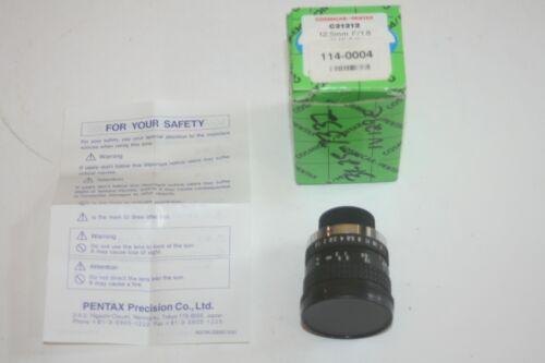 COSMICAR Pentax C21212 Manual Iris CCTV Lens 12.5MM F/1.8, 1in MI C-M * NEW *