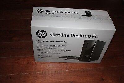 BRAND NEW HP Slimline Desktop PC, Intel  2.90GHz  500GB HDD 4GB Win10, 270-p033w
