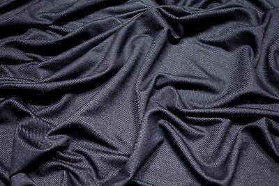 "Indigo Denim Jersey 4 Way Stretch Soft Knit Spandex Shirting Apparel Fabric 60""W"