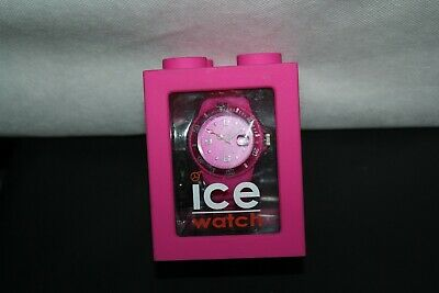 Woman's Ice Watch Large Pink ICE RAMIC CASE 10 ATM new in box