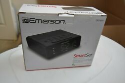 Emerson Smart Set Alarm Clock Radio with AM/FM Radio Dimmer Sleep Timer #7161