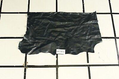 Incredible Dark Blue Crackle Finish Scrap Leather Hide Approx 3.75 sqft R81J33-8