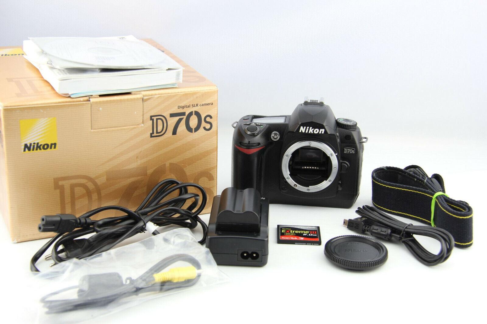 Nikon D70s 6.1 MP digitale Spiegelreflexkamera 18,6 Tsd. Auslöser # 7090