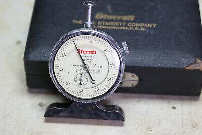 Starrett No.640-e Dial Depth Gage .0005 0-.500