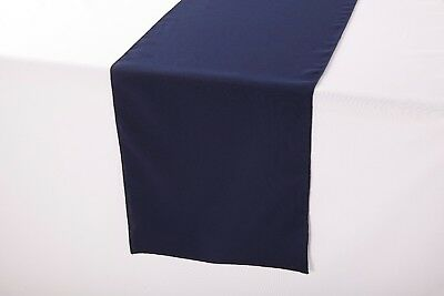 14 x 108 inch Polyester Table Runner Navy (Navy Table Runner)