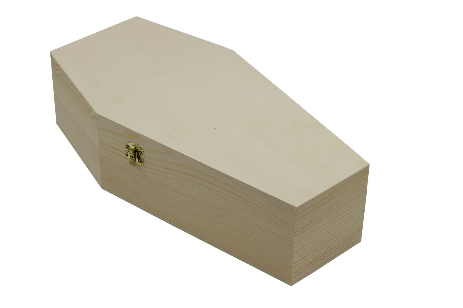 Large 12 Inch Halloween Coffin Box, Fillable Hinged Box for Halloween Décor Crafting Pieces