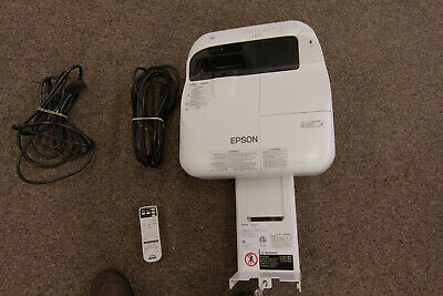 Epson PowerLite 580 LCD Short Throw Projector. Mount and Remote Included!