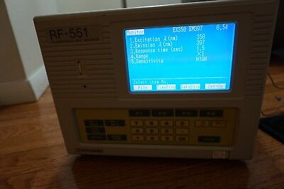 Shimadzu Rf-551  Detector Hplc Scanning Fluorescence Monitor