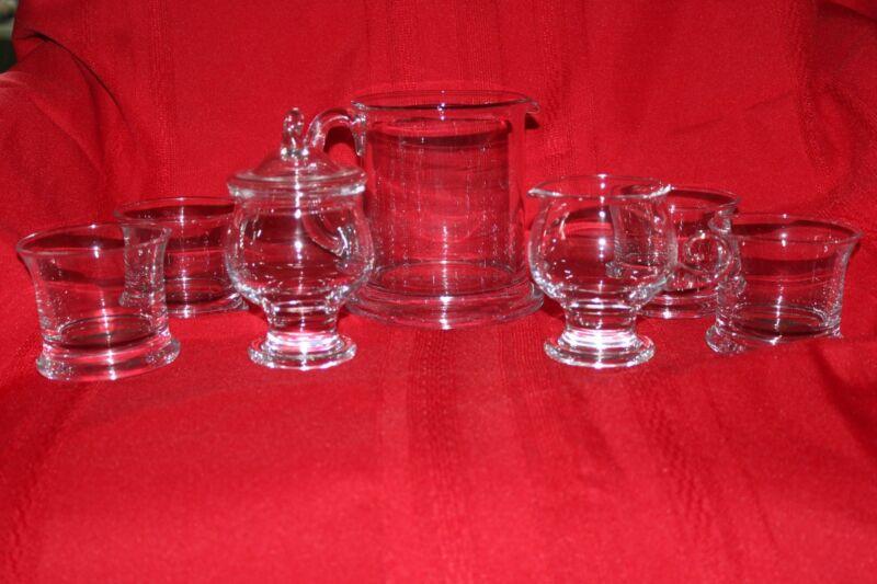 Danish Holmegaard Glass Coffee/Tea Set