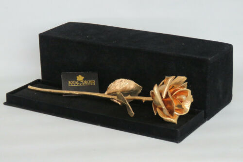 Royal Orchid Collection 24K Gold Dipped Rose in Box 2006B