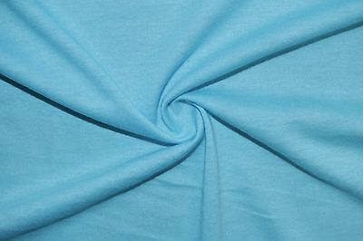 Light Blue 100% Cotton Jersey Knit 7 Ounce Shirt Sewing Apparel Fabric BTY