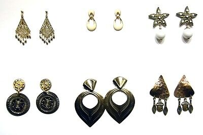 Group Of 6 Costumes (Group of 6 pierced earrings from Claire's hammered metal &)