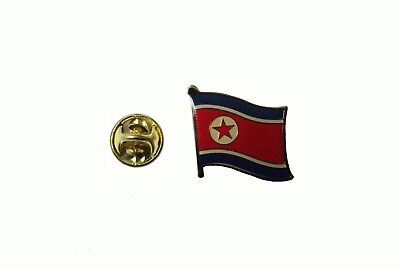 North Korea  Country Flag Metal Lapel Pin Badge   New
