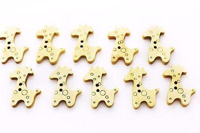 Giraffe Wooden Button Animal Children Baby Wood DIY Two Holes Cute Buttons - Giraffe Costume Diy