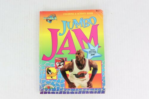 Vintage 90s Warner Bros Space Jam Michael Jordan Jumbo Coloring Activity Book
