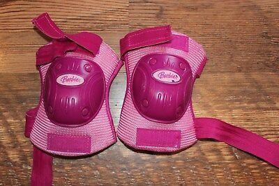 kids knee pads pink Barbie protective gear skateboarding biking rollerblade