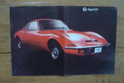 1972 Opel GT Poster Brochure