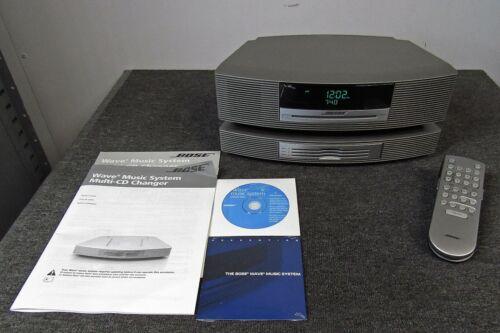 Bose WaveMusic System AWRCC1 w/Multi CD Changer & Remote Bundle, *Sounds Great*