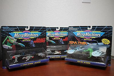 Micro Machines Star Trek Galaxy Voyagers #1 & 6 Space Toy