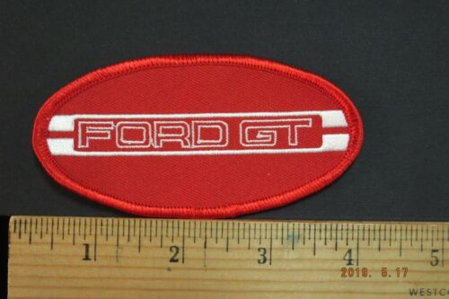 """FORD  GT EMBROIDERED IRON ON PATCH 4x2"""""""