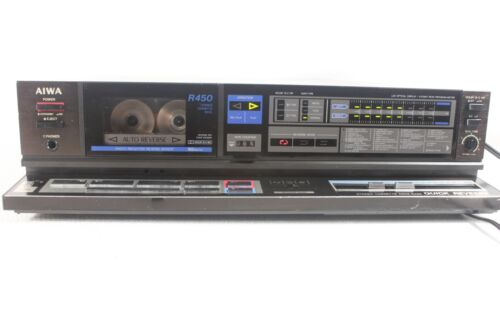 AIWA AD-R450C, vintage cassette deck- auto reverse,serviced. (ref D 665)