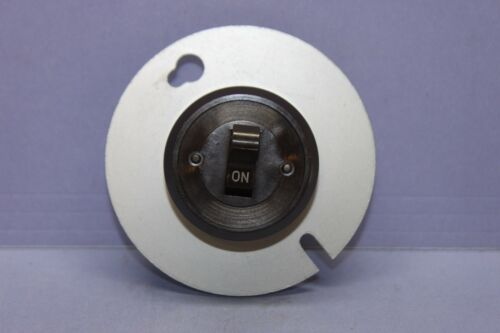 "NEW Vintage BRYANT Round Single-Pole Toggle Switch & Plate 3-1/4"" Junction Box"