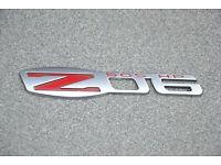 C6 Corvette Z06 HSV W427 LS7 Engine Fender Badge Pair 2 colors