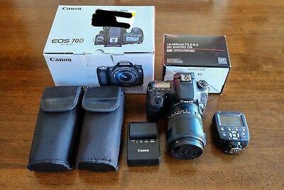 Canon EOS 70D + Sigma Lens + Flash Equipment BUNDLE