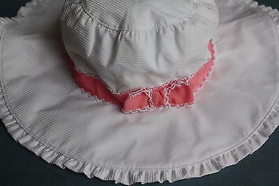 New Gymboree Celebrate Spring White Wide Brim Girls Sun Hat NWT Size 8 9 10 12