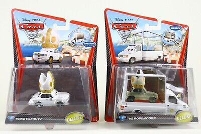 Mattel Disney Pixar Cars Deluxe Lot /2 POPE PINION IV & THE POPEMOBILE