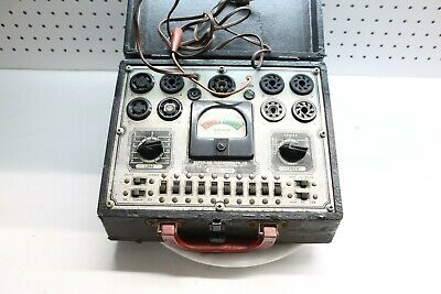 Vintage Portable Superior Instruments Tube Tester Model 1240 W Probes Untested