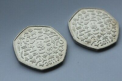 WWF 50p coin bundle - 2 x 2011 WWF coins (circulated)