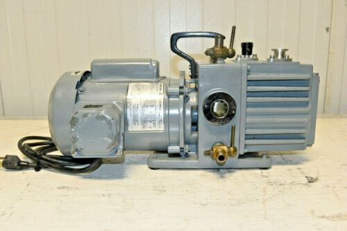Leybold Trivac Vacuum Pump Model D2A 1/3 hp GE motor  120V