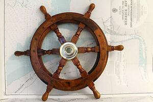 Timone legno indiano 46 cm arredamento marino casa for Arredamento indiano