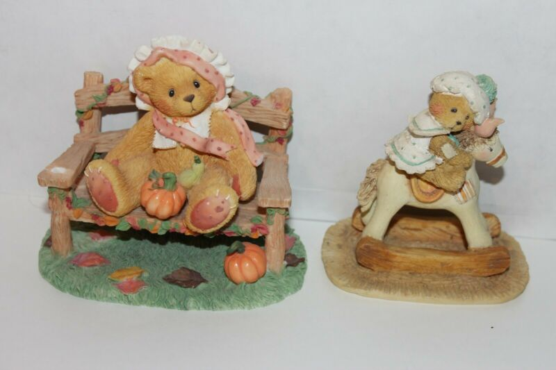 Lot of 2 Cherished Teddies Figurines Beth and Cathy