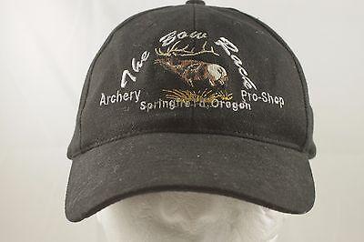 f5c7ebbc Vintage BOW RACK HUNTING Black HAT snap back Oregon Elk snapback  Springfield Or.