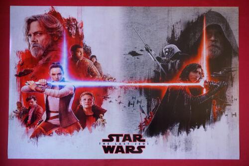 Star Wars The Last Jedi Leia Rey Finn C-3PO Kylo Ren Poster 24X36  NEW   SWDU